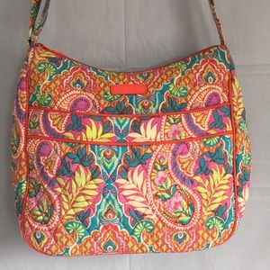 Vera Bradley red blue purple floral quilted bag